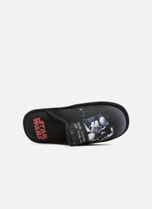 Pantuflas Star Wars Malambo Negro vista lateral izquierda