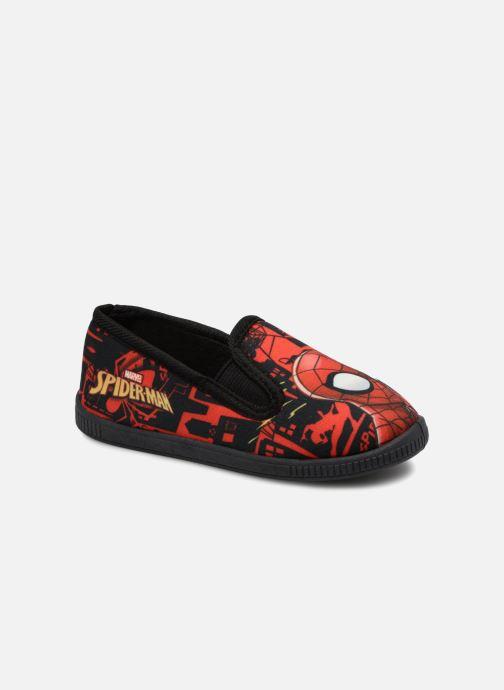 Hjemmesko Spiderman Salambo Rød detaljeret billede af skoene