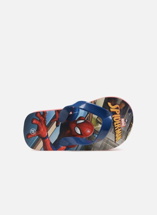 Chanclas Spiderman Dispo Azul vista lateral izquierda