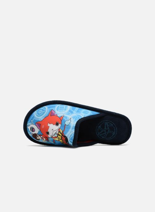 Pantuflas Yo-Kai Watch  Sisco Azul vista lateral izquierda