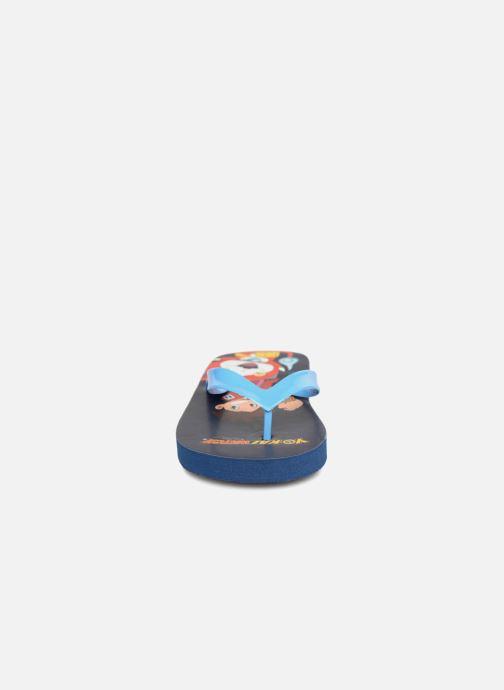 Tongs Yo-Kai Watch  Diablito Bleu vue portées chaussures