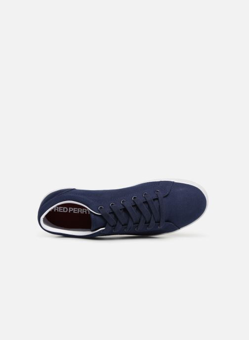 Baskets Fred Perry Baseline Canvas Bleu vue gauche