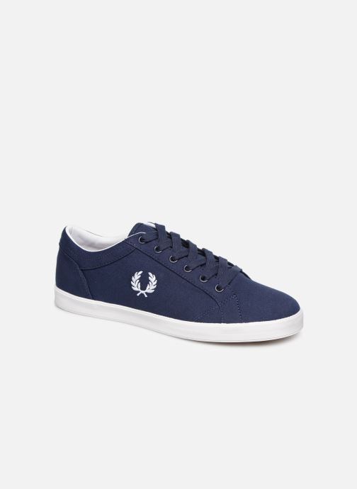 Baskets Fred Perry Baseline Canvas Bleu vue détail/paire