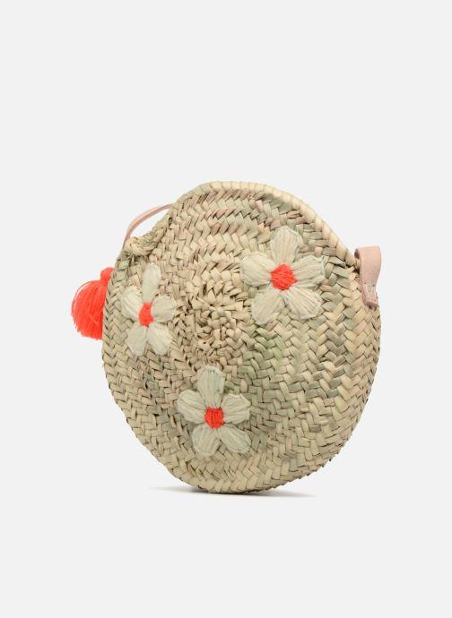 Sacs à main Etincelles Sac rond bandoulière + motif fleur Beige vue portées chaussures