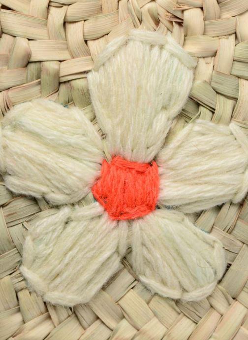 Bolsos de mano Etincelles Sac rond bandoulière + motif fleur Beige vistra trasera