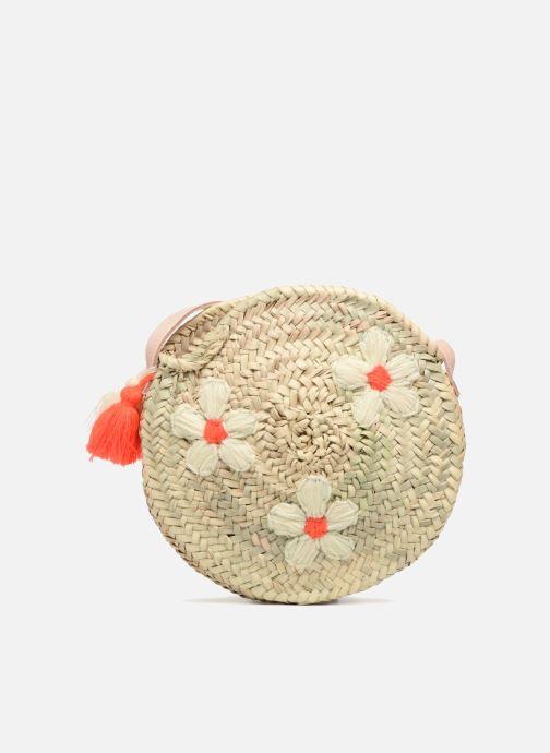 Sacs à main Etincelles Sac rond bandoulière + motif fleur Beige vue détail/paire