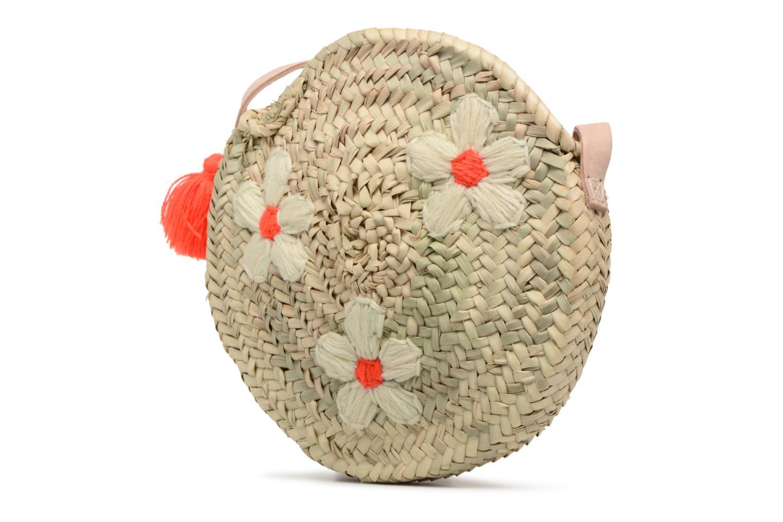 Handtassen Etincelles Sac rond bandoulière + motif fleur Beige model
