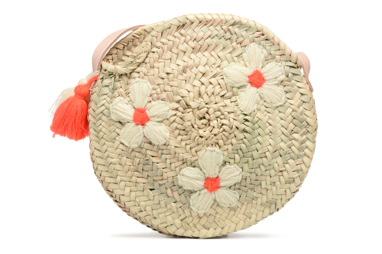 Handtassen Etincelles Sac rond bandoulière + motif fleur Beige detail