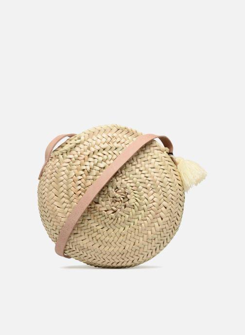 Handtaschen Etincelles Sac rond bandoulière + texte J'adore! noir beige ansicht von vorne