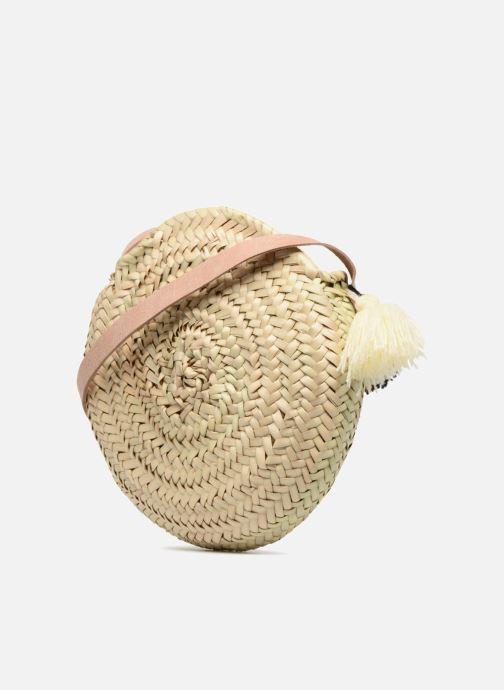 Handtaschen Etincelles Sac rond bandoulière + texte J'adore! noir beige ansicht von rechts