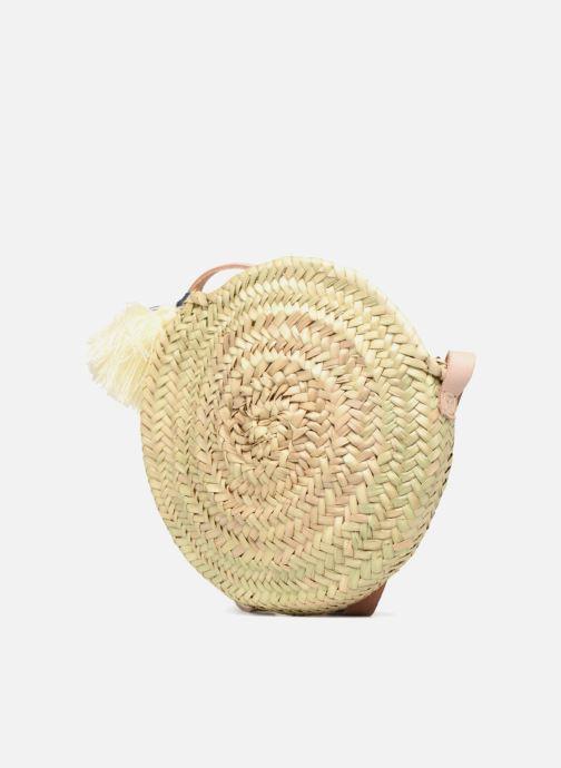 Handbags Etincelles Panier rond bandoulière + Pompons Beige model view