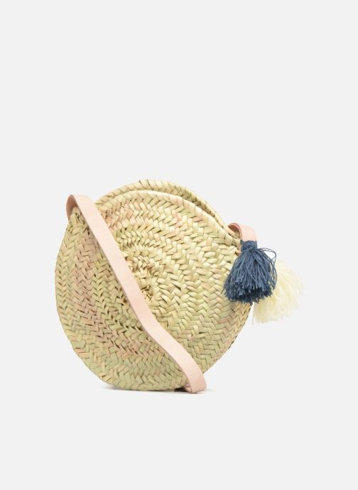 Handbags Etincelles Panier rond bandoulière + Pompons Beige view from the right