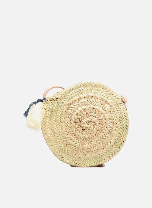Sacs à main Etincelles Panier rond bandoulière + Pompons Beige vue détail/paire
