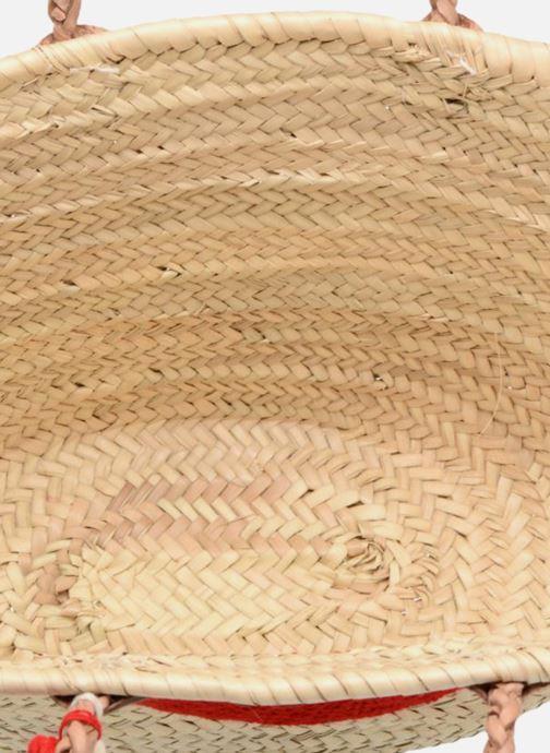 Borse Etincelles Panier motif bouche rouge Beige immagine posteriore