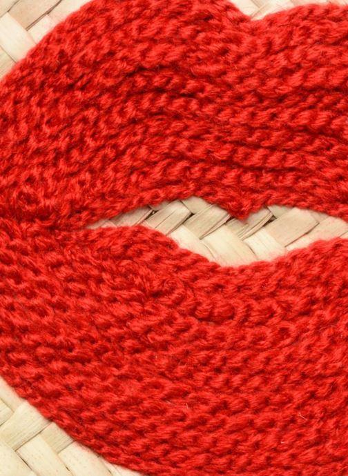 Sacs à main Etincelles Panier motif bouche rouge Beige vue gauche
