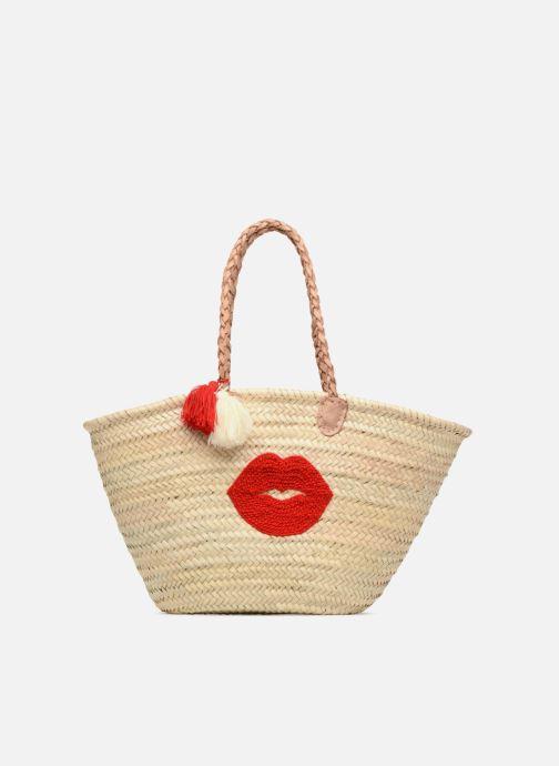 Sacs à main Etincelles Panier motif bouche rouge Beige vue détail/paire