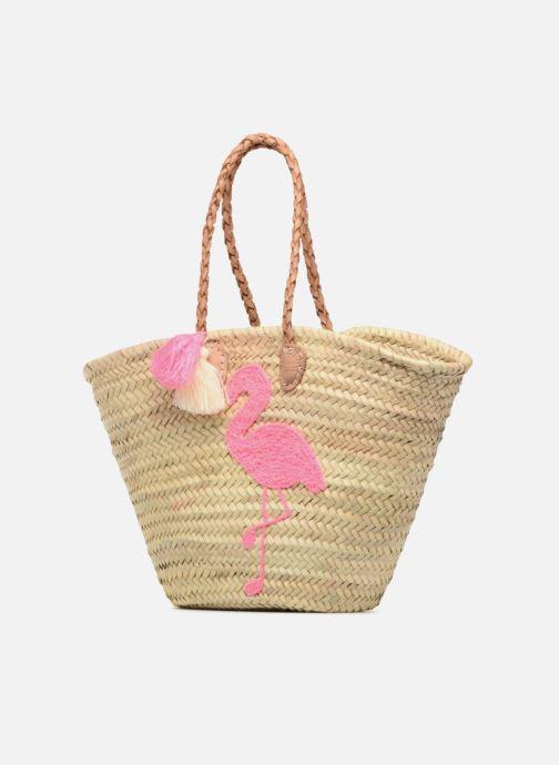Handbags Etincelles Panier Flamant Rose Beige model view