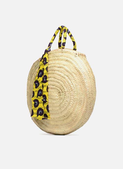 Handbags Etincelles Panier rond GM Wax Beige model view