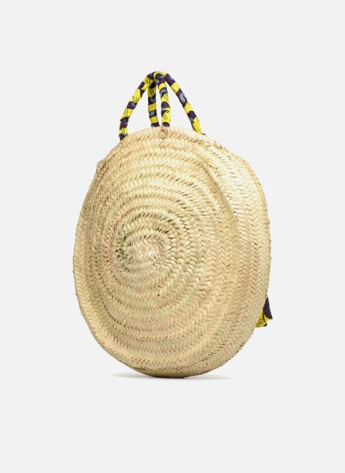 Handbags Etincelles Panier rond GM Wax Beige view from the right
