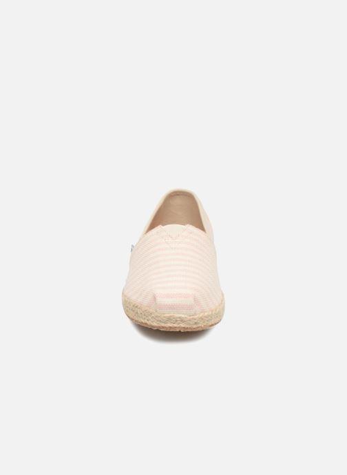 Espadrilles TOMS Alpargata E Rose vue portées chaussures