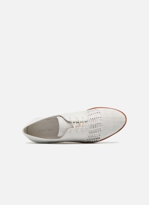 Zapatos con cordones What For Bernie Blanco vista lateral izquierda