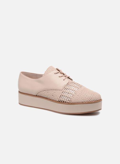 Chaussures à lacets What For Bernie Beige vue détail/paire