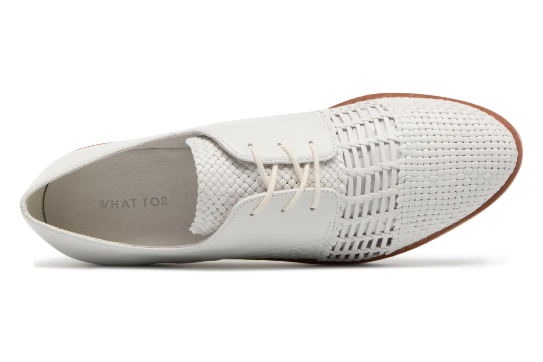 Chaussures à lacets What For Bernie Blanc vue gauche