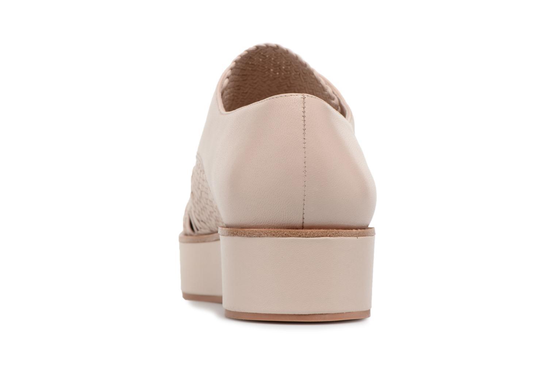 Chaussures à lacets What For Bernie Beige vue droite