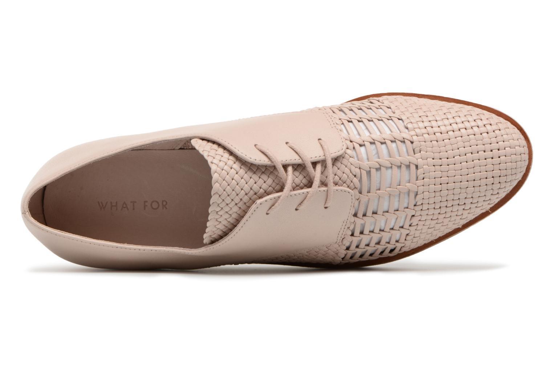 Chaussures à lacets What For Bernie Beige vue gauche