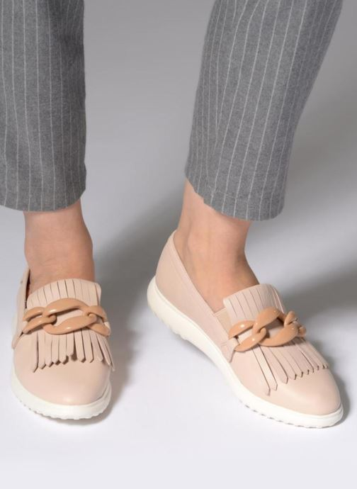 Mocasines What For Sela Beige vista de abajo