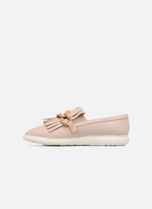 Mocasines What For Sela Beige vista de frente