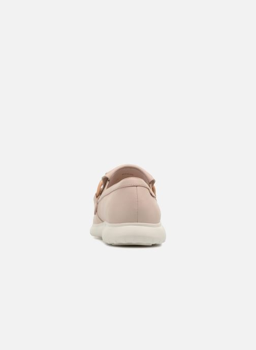 Mocasines What For Sela Beige vista lateral derecha