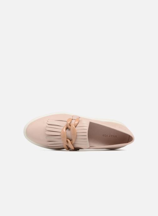 Mocasines What For Sela Beige vista lateral izquierda