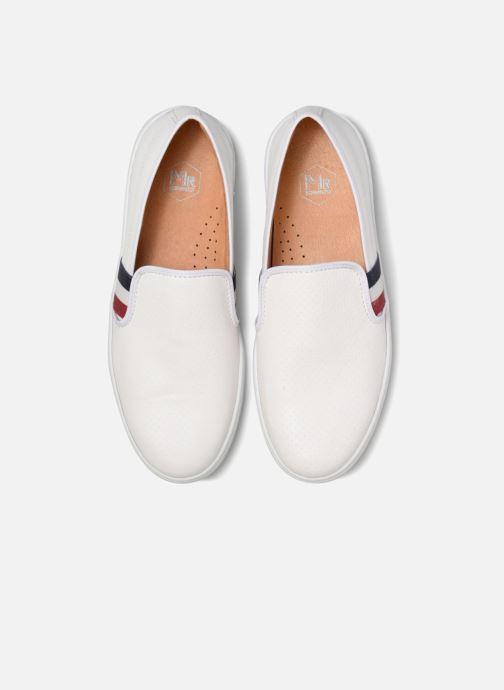 Baskets Mr SARENZA Slipon Blanc vue portées chaussures