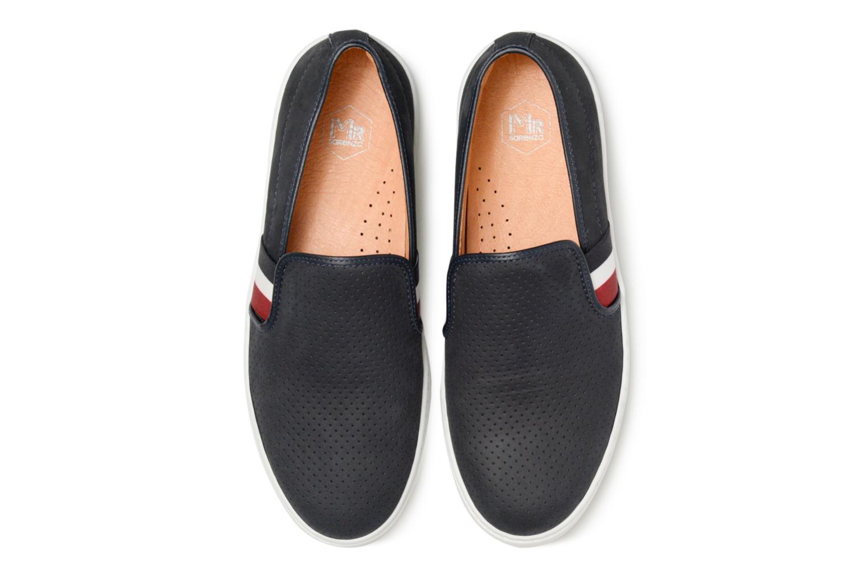 Baskets Mr SARENZA Slipon Bleu vue portées chaussures