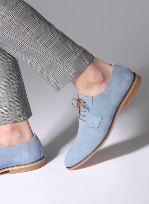 Chaussures à lacets Mr SARENZA Southampton Bleu vue bas / vue portée sac