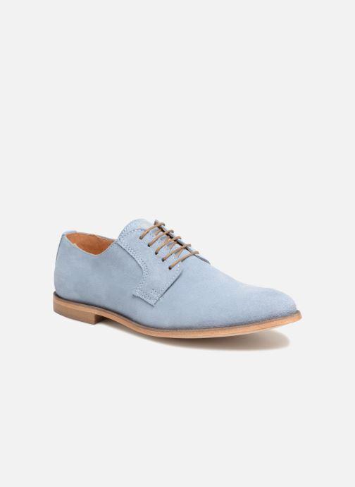 Zapatos con cordones Mr SARENZA Southampton Azul vista lateral derecha