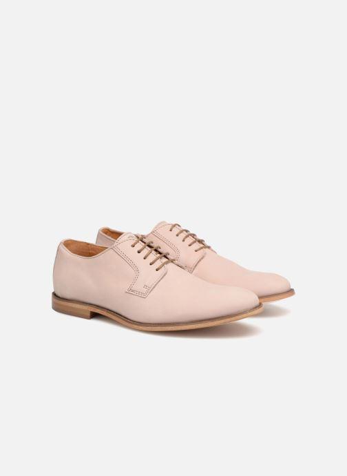 Zapatos con cordones Mr SARENZA Southampton Rosa vista lateral derecha