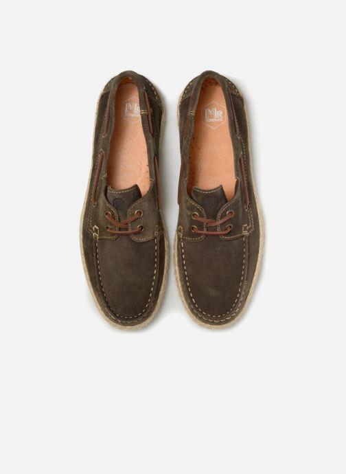 Zapatos con cordones Mr SARENZA Sboat Verde vista del modelo