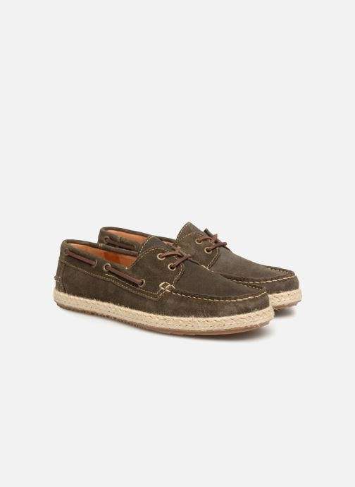 Zapatos con cordones Mr SARENZA Sboat Verde vistra trasera