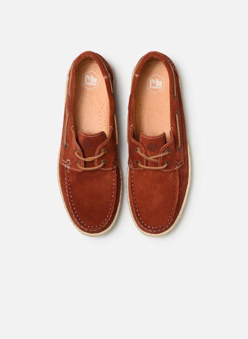 Zapatos con cordones Mr SARENZA Sboat Rojo vista del modelo