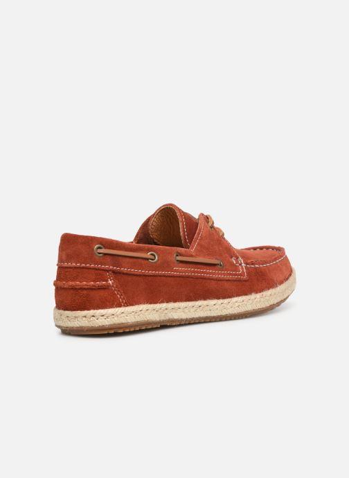 Chaussures à lacets Mr SARENZA Sboat Rouge vue face
