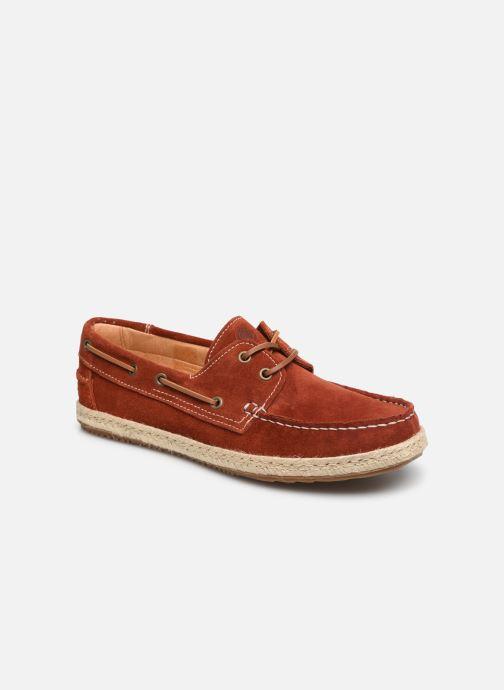Zapatos con cordones Mr SARENZA Sboat Rojo vista lateral derecha