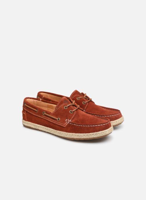 Chaussures à lacets Mr SARENZA Sboat Rouge vue derrière