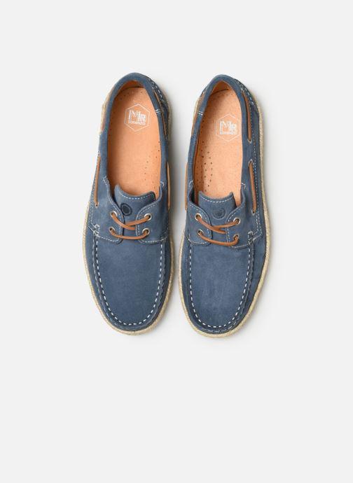 Zapatos con cordones Mr SARENZA Sboat Azul vista del modelo
