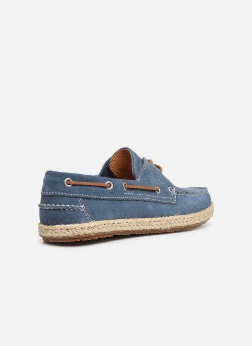 Zapatos con cordones Mr SARENZA Sboat Azul vista de frente