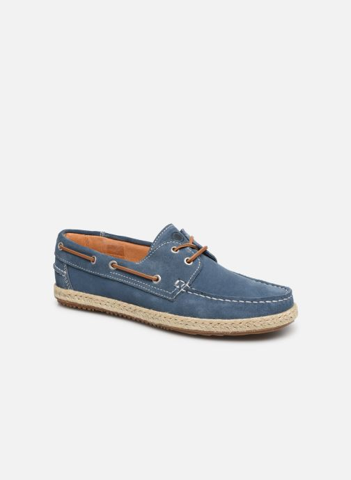Zapatos con cordones Mr SARENZA Sboat Azul vista lateral derecha