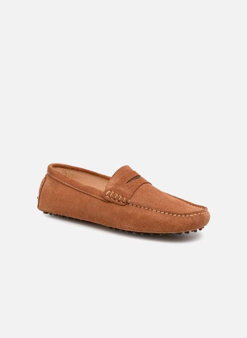 Mocasines Mr SARENZA Suttin Marrón vista lateral derecha
