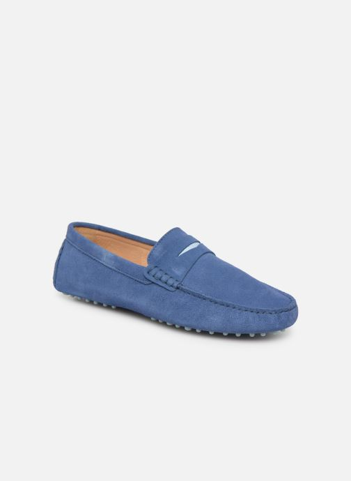 Mocasines Mr SARENZA Suttin Azul vista lateral derecha