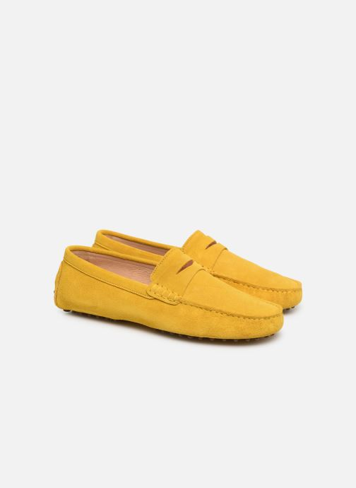 Mocasines Mr SARENZA Suttin Amarillo vistra trasera